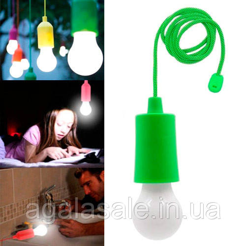 Светильник ночник Лампа на шнурке светодиодный LED, портативный