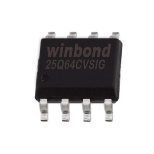 Чип W25Q64 W25Q64CVSIG SOP8, 64Мб Flash SPI