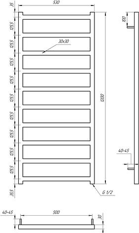 Полотенцесушитель Genesis-Aqua Bud 120x53 см, фото 2
