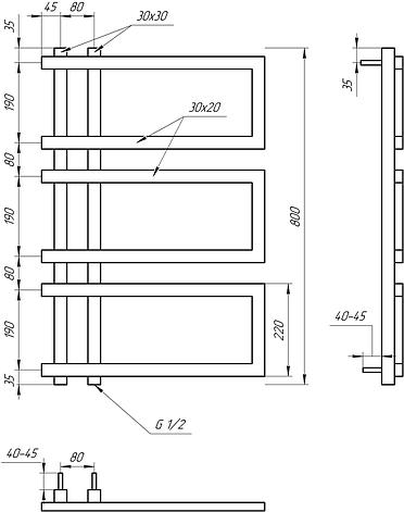 Полотенцесушитель Genesis-Aqua Enzo 80x53 см, фото 2