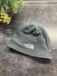 Зимняя двухсторонняя шапка The North Face серый