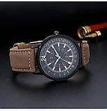 Наручные часы с коричневым ремешком, фото 3