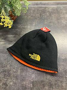 Зимняя двухсторонняя шапка The North Face черный