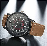 Наручные часы с коричневым ремешком, фото 5