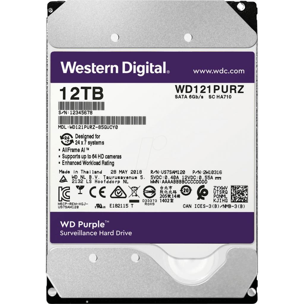"Жесткий диск 3.5"" 12TB WD (WD121PURZ)"