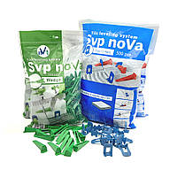 Комплект noVa SVP (1000 Оснований 1мм  +300 Клиньев), фото 1