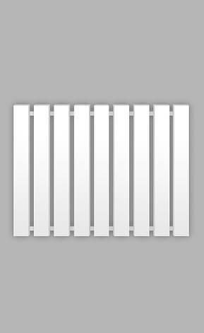 Полотенцесушитель Genesis-Aqua Batteria 120x60 см, білий, фото 2