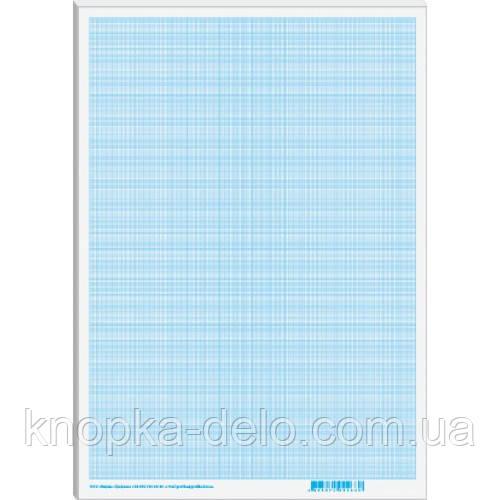 Папір масштабно-коорд.  А4, (300х200мм), 20 арк., блакитний _МК4120Е