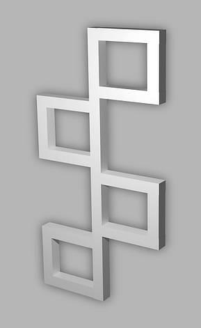 Полотенцесушитель Genesis-Aqua Fito 100x53 см, білий, фото 2