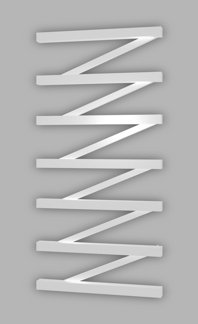 Електричний полотенцесушитель Genesis-Aqua ZigZag 120x53 см, білий