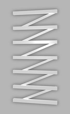 Електричний полотенцесушитель Genesis-Aqua ZigZag 120x53 см, білий, фото 2