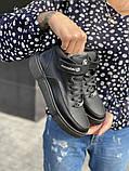 Подростковые ботинки кожаные зимние черные, фото 3