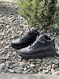 Подростковые ботинки кожаные зимние черные, фото 6