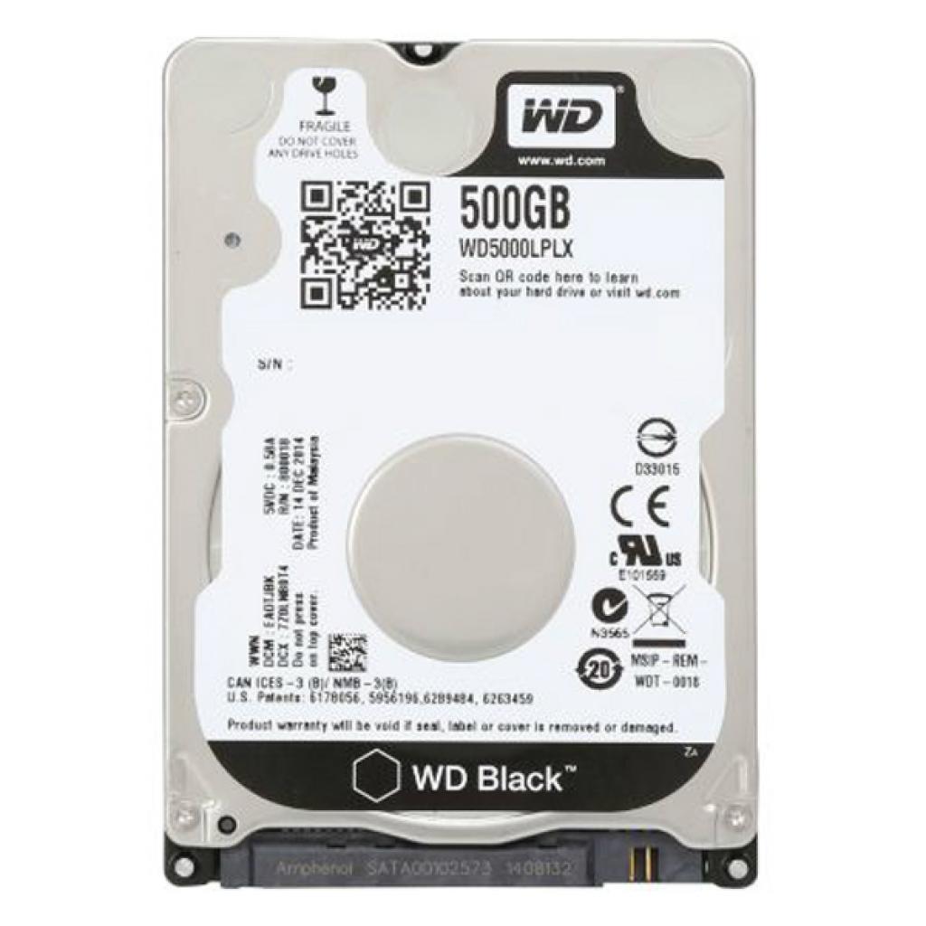 """Жесткий диск для ноутбука 2.5"""" 500GB WD (WD5000LPLX)"""