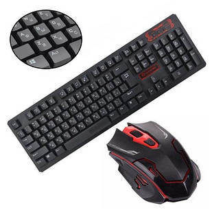 Комплект клавіатура+миша бездротовий, ігровий, 104 клавіші, 1200dpi HK6500