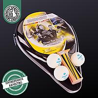 Набір для настільного тенісу DONIC LEVEL, деревина, гума, 1 ракетка, 3 м'ячі з чохлом (MT-788480)