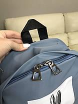 Рюкзак портфель жіночий синій (є інші кольори), фото 2