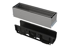 Щелевой дренажный канал 100 мм с асимметричной надставкой из нержавеющей стали С250