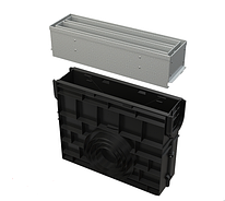 Пескоуловитель для дренажного канала AVZ101-R123 с щелевой симметричной надставкой из оцинкованной стали С250