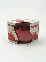 Свеча ароматизированная в стеклянном стакане, Bispol / Redcurrant Jam, 24 часов горения