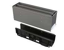 Щелевой дренажный канал 160 мм с симметричной надставкой из оцинкованной стали С250