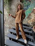 Костюм женский брючный велюровый в рубчик, фото 3