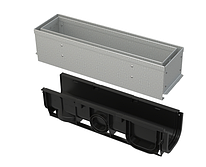 Щелевой дренажный канал 100 мм с асимметричной надставкой из оцинкованной стали С250