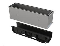 Щелевой дренажный канал 160 мм с асимметричной надставкой из нержавеющей стали С250