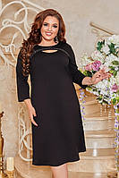 Женское приталенное платье больших размеров, фото 1