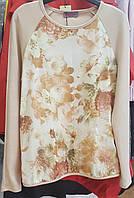 Гарний світшот світло-бежевого кольору з ніжним малюнком по переду Grand.ua, фото 1