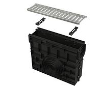 Пескоуловитель для дренажного канала AVZ102 с пластиковой рамой и оцинкованной решеткой С-образного профиля