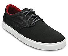 Туфли мужские текстильные Кроксы / Crocs Men's Citilane Canvas Lace-up Sneaker (203969), Черные