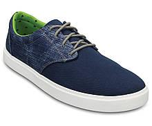 Туфли мужские текстильные Кроксы / Crocs Men's Citilane Canvas Lace-up Sneaker (203969), Синие 43