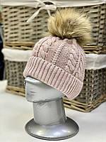 Шапка зимняя вязаная для девочки