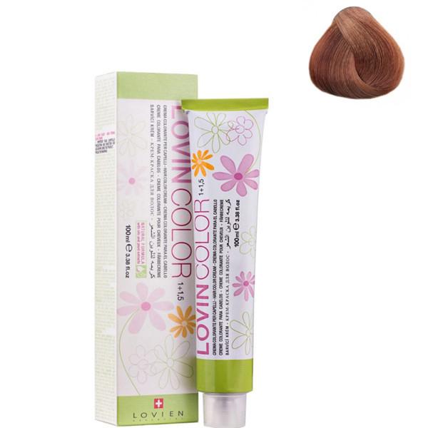 Стойкая крем-краска для волос Lovien Essential Lovin Color  №7.84 Русый с коричнево-медным оттенком 100 мл