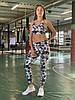 Комплект костюм спортивний компресійний жіночий Reebok Рібок (L останній розмір), фото 4