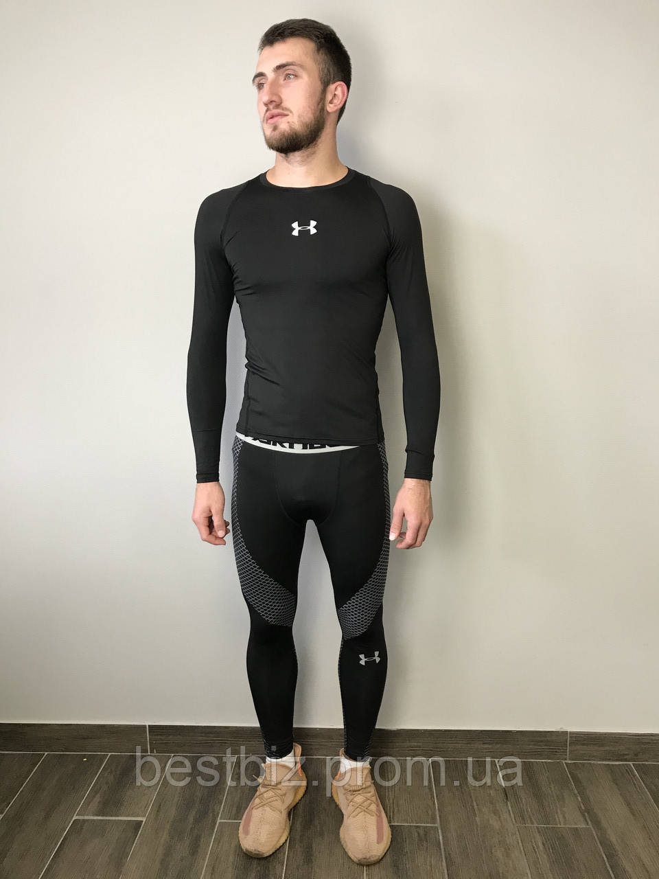 Комплект костюм спортивный компрессионный мужской  Under Armour Андер Армоур  (XL)