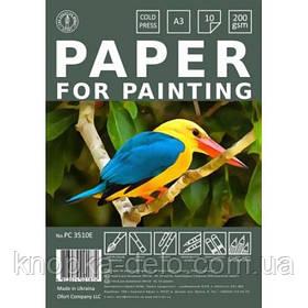 Бумага для рисования А3, 10 листов PC3510E