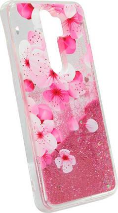 Накладка Xiaomi Redmi Note8 Pro pink Sakura аквариум, фото 2