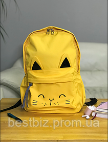 Рюкзак портфель жіночий жовтий (є інші кольори)