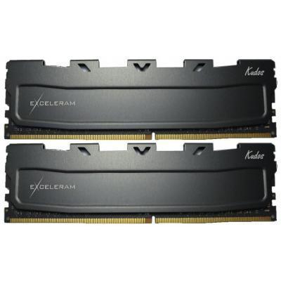 Модуль памяти для компьютера DDR4 16GB (2x8GB) 2400 MHz Black Kudos eXceleram (EKBLACK4162415AD)