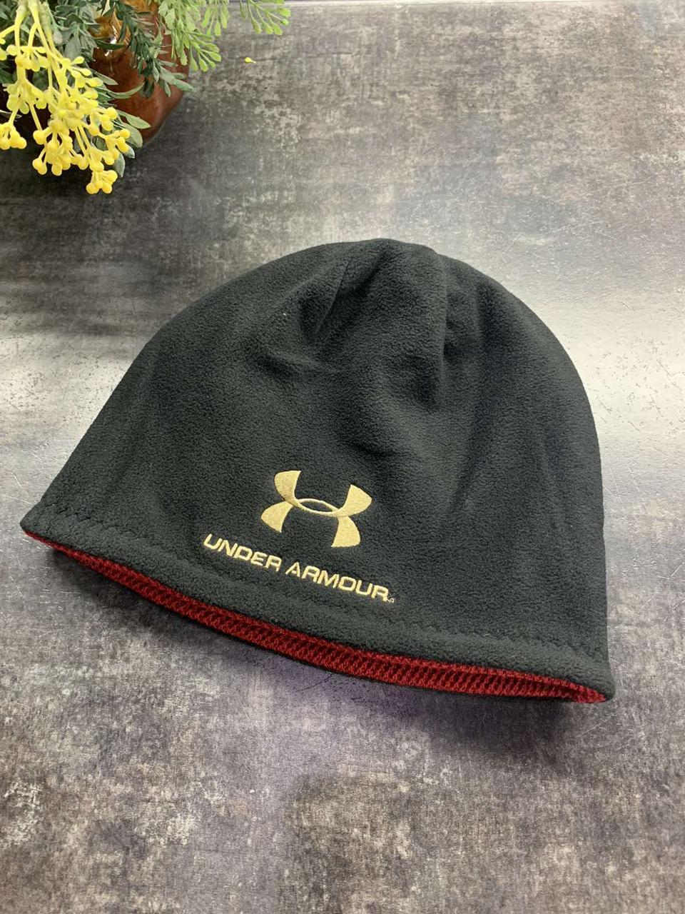 Зимняя двухсторонняя шапка Under Armor черная