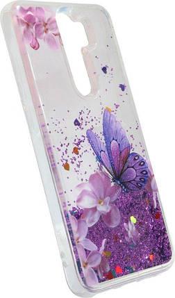 Накладка Xiaomi Redmi Note8 Pro violet Butterfly аквариум, фото 2