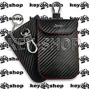Чохол (шкіряний) для смарт ключа Jeep, Dodge, Chrysler (Джип, Додж, Крайслер) 4 +1 кнопка (panic)