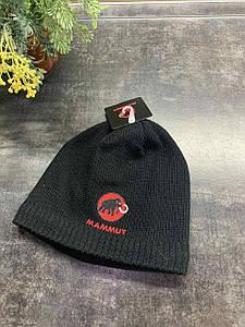 Зимняя двухсторонняя шапка Mammut черная