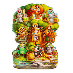 Пазл-вкладыш: Волшебное дерево - учим предлоги