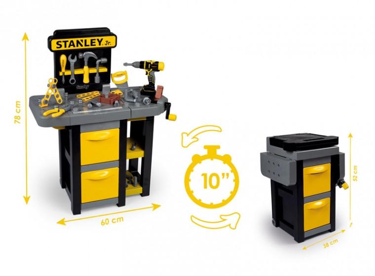 Детская мастерская инструментов игровой набор для мальчика Стэнли Smoby Toy Stanley Workbench 360317
