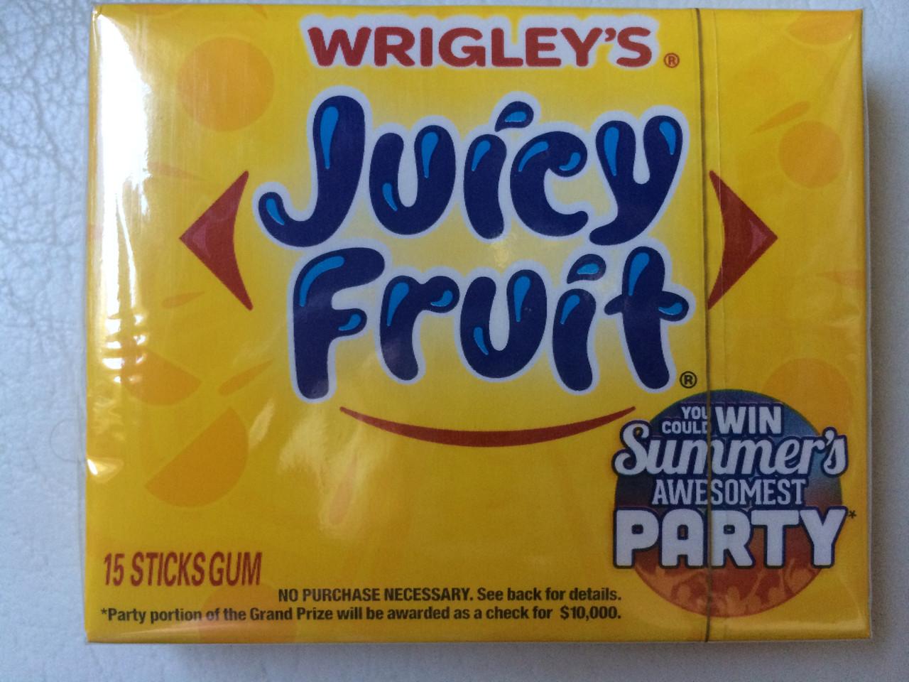 Жвачка Wrigley's juicy fruit
