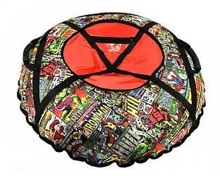 Тюбинг надувной  / Ватрушка / Надувные санки ПВХ диаметром 120 см., Комиксы