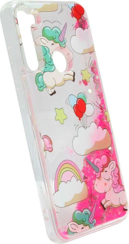 Накладка Xiaomi Redmi Note8T pink Unicorn аквариум
